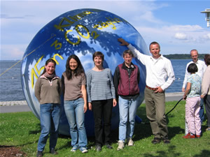 The climate balloon aims at demonstrating the carbon footprint