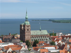 View over the roof of Stralsund